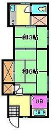 星野荘[1階]の間取り