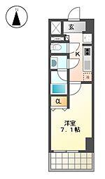 愛知県名古屋市北区辻町2丁目の賃貸マンションの間取り