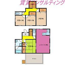 [一戸建] 三重県志摩市阿児町国府 の賃貸【/】の間取り