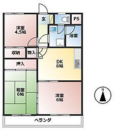 矢野第二ビル[2階]の間取り