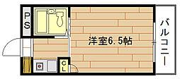 インペリアル江口C棟[4階]の間取り