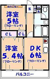 ライトコート[1階]の間取り
