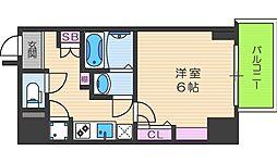 Osaka Metro御堂筋線 梅田駅 徒歩10分の賃貸マンション 7階1Kの間取り