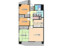 栃木県宇都宮市西2丁目の賃貸マンションの間取り