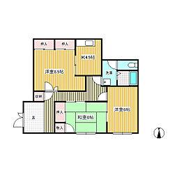 コーポ駒ヶ原[1階]の間取り