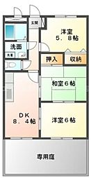 香川県高松市国分寺町新名の賃貸アパートの間取り