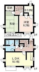 [テラスハウス] 神奈川県横浜市戸塚区上矢部町 の賃貸【/】の間取り
