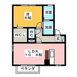 MAISON K・HI[1階]の間取り