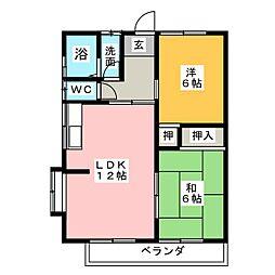 ルミエールB棟[2階]の間取り