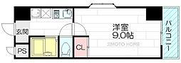 シティオ江坂[5階]の間取り