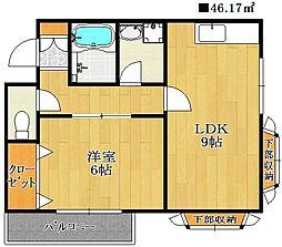 ハイブリッジマンションII[3階]の間取り