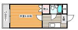 コーポリーブルII[3階]の間取り