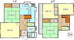 [一戸建] 神奈川県横須賀市船越町6丁目 の賃貸【/】の間取り