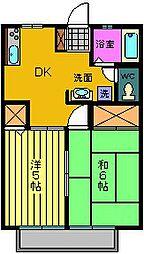 サンコートTOYODA B棟[1階]の間取り