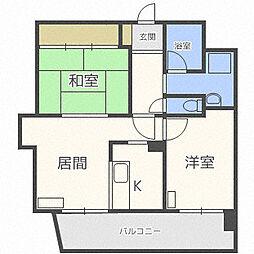 北海道札幌市中央区南十七条西9丁目の賃貸マンションの間取り