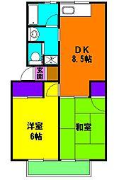 静岡県浜松市中区萩丘4丁目の賃貸アパートの間取り