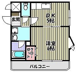 トリニティーグレース[3階]の間取り