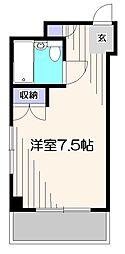 東京都小平市学園西町2の賃貸マンションの間取り