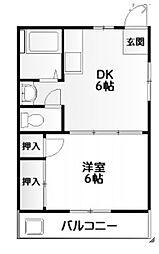 ビラ高ヶ坂[4階]の間取り