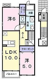 横浜市緑区台村町 フォルシュ・ウエスト[2階]の間取り