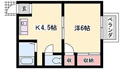 カナハイツ[203号室号室]の間取り