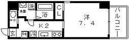 K-flatz(ケーフラッツ)[6階]の間取り