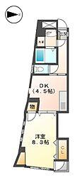 グランデ城西[7階]の間取り