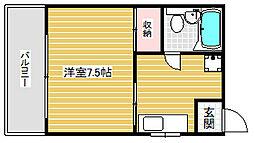 パル平野[3階]の間取り