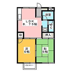 大沼フラッツA[2階]の間取り