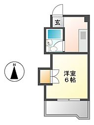 愛知県名古屋市南区宝生町4の賃貸マンションの間取り