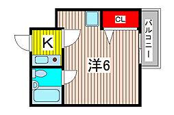 ベルトピア南浦和III[2階]の間取り