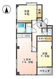 メゾンスコットI[1階]の間取り
