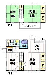 [一戸建] 長野県長野市吉田1丁目 の賃貸【/】の間取り