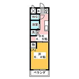 ユニオンハイツ日比野[2階]の間取り