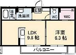 シャーメゾンNSG福山B棟[2階]の間取り