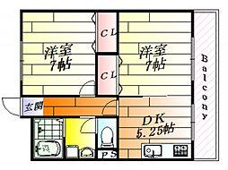 ナンノ第3号館[2階]の間取り