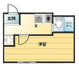 神奈川県横浜市西区北軽井沢の賃貸アパートの間取り