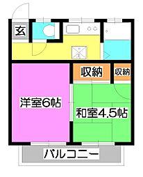 サンハウス松本[2階]の間取り