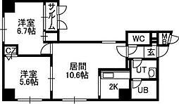 SAPPORO HILLS[2階]の間取り
