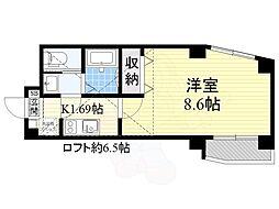 アニコフローラ高円寺 1階1Kの間取り