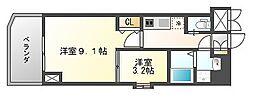 ウインステージ平尾[12階]の間取り