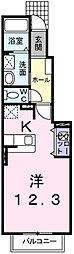 サンフローラB[1階]の間取り