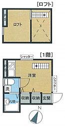 東京都板橋区中台3丁目の賃貸アパートの間取り