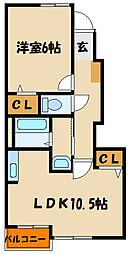 ベルハーモニー[1階]の間取り