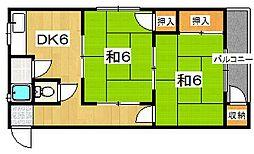 栗ヶ谷マンション[3階]の間取り