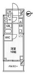 都営浅草線 高輪台駅 徒歩5分の賃貸マンション 4階ワンルームの間取り