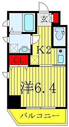JR山手線 巣鴨駅 徒歩10分の賃貸マンション 8階1Kの間取り