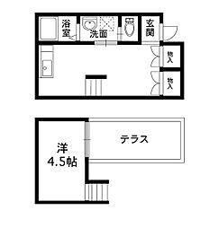 大阪府堺市堺区七道西町の賃貸アパートの間取り