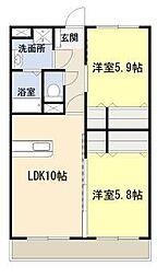 フェニックスマンションA[3階]の間取り