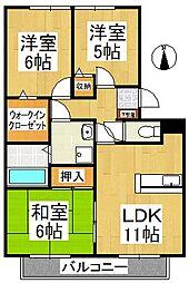 ハウスフリーデII[2階]の間取り